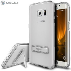 Protect the back and sides of your Samsung Galaxy S7 Edge while preserving the sleek aesthetics with the clear bumper case from Obliq. Complete with a kickstand, the Naked Shield series allows you to stand your phone for convenient viewing.