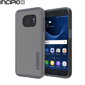 The Incipio DualPro Shine in Gunmetal and Grey wraps your Samsung Galaxy S7 in 2 layers of protection, first of which being a strong silicone core and the second being a shiny metallic effect hard shell outer cover.