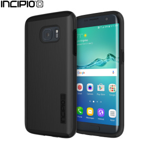 The Incipio DualPro Shine in Black wraps your Samsung Galaxy S7 Edge in 2 layers of protection, first of which being a strong silicone core and the second being a shiny metallic effect hard shell outer cover.