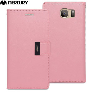 With the perfect blend of elegance, functionality and protection, this luxurious wallet case from Mercury in pink is the ideal companion for your Samsung Galaxy S7. Featuring 5 card slots and a document pocket you can carry more, easily.