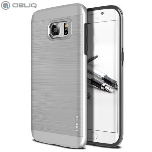 Protect your Samsung Galaxy S7 Edge with this ultra slim case in satin silver which protects as well as providing a stunning full body protection in an attractive dual design.