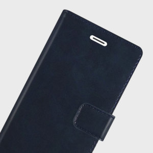 The Mercury Blue Moon Wallet case in navy for the iPhone 6S / 6 Plus delivers exceptional style in a slim and sleek package. Crafted from premium materials, the case looks amazing and features slots for your cards and documents.