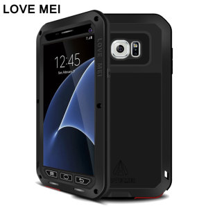 Protect your Samsung Galaxy S7 with one of the toughest and most protective cases on the market, ideal for helping to prevent possible damage from water and dust - this is the black Love Mei Powerful Protective Case.