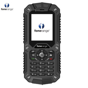 Unlocked Fonerange Rugged 3G in black. With a 2 inch display, this phone is perfect for withstanding harsh conditions. IP68 rated, the Rugged 3G is waterproof, dustproof and shockproof.