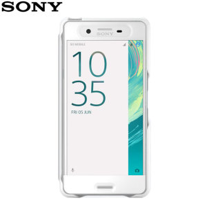 This official SCR56 smart cover in white from Sony houses your Xperia X, providing protection and full functionality through the see-through touchscreen font cover, allowing you to view and action incoming messages and calls.