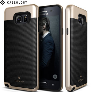 Caseology Envoy Series Samsung Galaxy Note 5 Case - Carbon Fibre Black