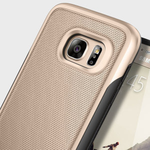 Protect your Samsung Galaxy S7 with this stunning rugged dual-layered shell case in black and gold. Made with tough dual-layered yet slim material, this TPU body with a sleek metallic outer layer features an attractive two-tone finish.