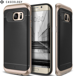 Made from rugged TPU and tough polycarbonate and featuring a stunning waved grip design, the Wavelength Series tough case in black keeps your Galaxy S7 Edge safe, slim and stylish.
