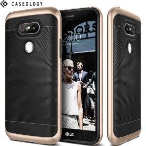 Gemaakt van robuuste TPU en robuuste polycarbonaat en voorzien van een prachtig gevlochten gripontwerp, houdt de Wavelength Series hardcase uw LG G5 veilig, slank en stijlvol.