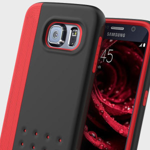 Protect your Samsung Galaxy S6 with this stunning premium dual-layered slim armour case in black and red. Made with tough dual-layered materials to provide extra grip, shock-absorbency and an eye-catching aesthetic.