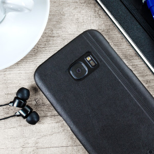 This classic black leather-style designer shell case for the S7 is from the world famous Moleskine label. As part of the classic collection, it is as elegant as it is protective. Ensuring that your Samsung Galaxy S7 stays looking good.