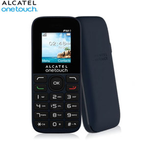 SIM Free Alcatel 1016G Unlocked Phone - Black