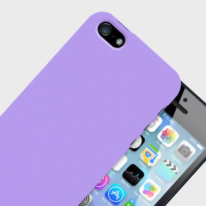 Protect your iPhone SE with this ultra thin snap on case from Patchworks. The C1 case in purple is only 0.9mm thick and features a soft touch coating.