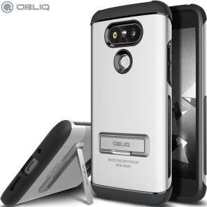 The Obliq Skyline Advance Pro Stand Case in satin silver is an ergonomic protective case for the LG G5, providing fantastic shock absorption without adding excessive bulk. It also features a built-in stand for viewing media.