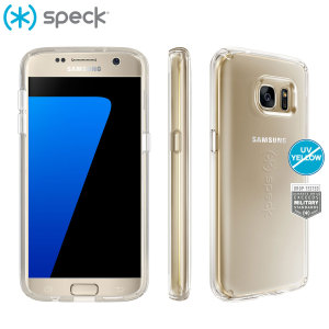 This completely clear CandyShell case from Speck for the Samsung Galaxy S7 has been made to military grade protection standards through custom engineered acrylic and impact dispersing polycarbonate to create the most stylish protection around.