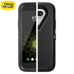 Protect your LG G5 with the toughest and most protective case on the market - the OtterBox Defender Series in black.