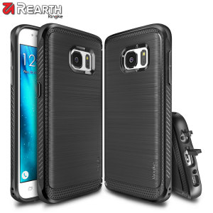 Provide your Samsung Galaxy S7 with slim yet heavy duty protection with this smooth finish black Ringke dual-layered Onyx case. The design and soft touch finish preserve the aesthetic and feel of the S7.