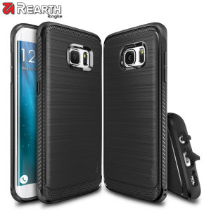 Provide your Samsung Galaxy S7 Edge with slim yet heavy duty protection with this smooth finish black Ringke dual-layered Onyx case. The design and soft touch finish preserve the aesthetic and feel of the S7 Edge.