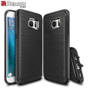 Ge din Samsung Galaxy S7 Edge ett smalt skydd med detta dubbla lagers skal med bumper från Ringke. Designen och touchen är soft samtidigt som den bevarar estetisken och känslan av S7 Edge.