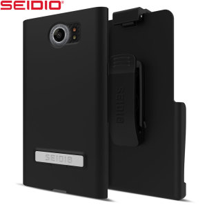 A sleek and slimline soft-touch black case for the BlackBerry Priv that offers superb protection yet adding very little bulk to your phone. The Combo includes the SURFACE holster for the Priv, so you can clip your phone to your belt.