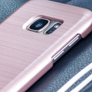 Protect your Samsung Galaxy S7 Edge with the Ino Slim Line case in rose gold from Motomo. Featuring a brushed metal style polycarbonate design, this premium case keeps your phone protected at all times from scratches and knocks.