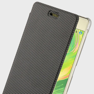 This officially licensed premium slim book case by Roxfit houses the Sony Xperia X within a form fitting hard case and encloses it in a soft rubber inner lining and a black leather-style cover.