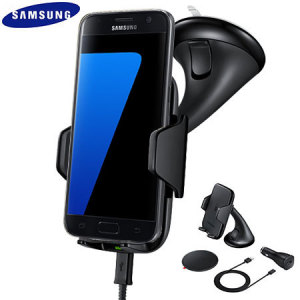 Support Voiture & Chargeur Officiel Samsung Galaxy S7 Qi - Noir