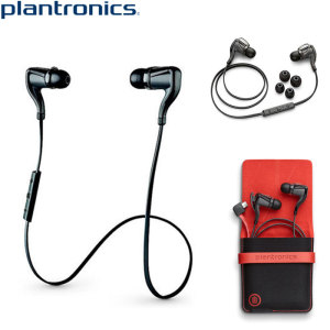 The black Plantronics BackBeat GO 2 wireless earphones pump out high quality stereo sound to listen to music, chat with friends, or watch movies on your device. With the provided charging case you can now listen for up to 14.5 hours.
