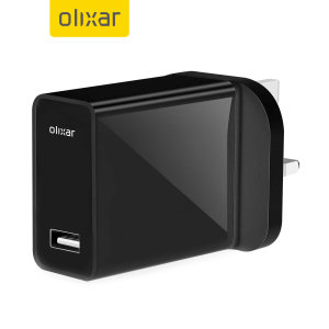 Olixar High Power 5W USB Mains Adapter - UK Plug - Back