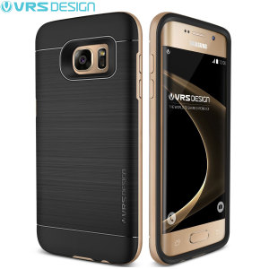 Protect your Samsung Galaxy S7 Edge with this precisely designed high pro shield series case in Shine Gold from VRS Design. Made with tough dual-layered yet slim material, this hardshell body with a sleek bumper features an attractive two-tone finish.