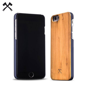 Woodcessories EcoCase Casual iPhone 6S / 6 - Bamboo & Navy Blue
