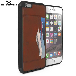 The Stash premium genuine leather case in light brown comes complete with a tempered glass screen protector to provide your iPhone 6S / 6 with fantastic protection. With storage for your credit cards & cash while also acting as a viewing stand.