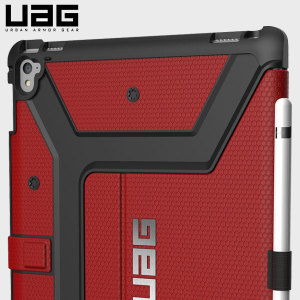The UAG Magma Rugged Folio Case in red keeps your iPad Pro 9.7 inch protected with a lightweight, but highly protective honeycomb composite interior, with a tougher outer case, ensuring the perfect combination of style and security.