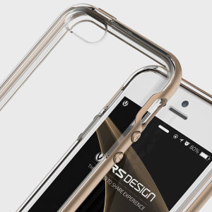 Coque iPhone SE VRS Design Crystal – Or Champagne