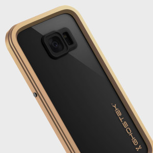 Equip your Samsung Galaxy S7 Edge with the most extreme and durable protection around! The gold and clear Ghostek Atomic 2.0 is completely waterproof and provides rugged drop protection with it's HD scratch resistant screen protector.