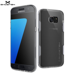 Coque Samsung Galaxy S7 Edge Ghostek Cloak Tough –Transparent / Argent