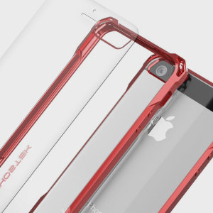 The Covert Protective case in red from Ghostek comes complete with a tough and highly durable film screen protector to provide your Apple iPhone SE with fantastic all round protection.