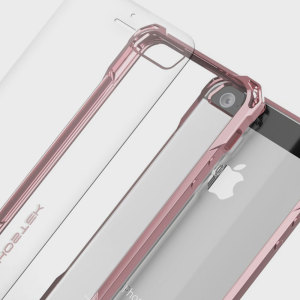 The Covert Protective case in rose gold from Ghostek comes complete with a tough and highly durable film screen protector to provide your Apple iPhone SE with fantastic all round protection.