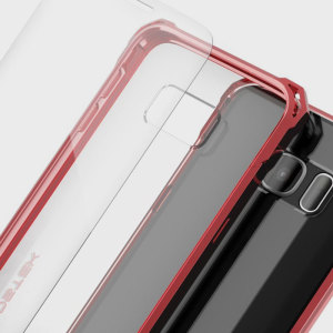 The Covert Protective bumper case in red and clear from Ghostek comes complete with a tough and highly durable film screen protector to provide your Samsung Galaxy S7 Edge with fantastic all round protection, whilst highlighting its superb design.