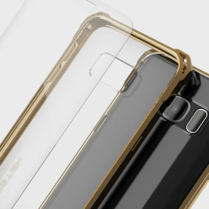 The Covert Protective bumper case in gold and clear from Ghostek comes complete with a tough and highly durable film screen protector to provide your Samsung Galaxy S7 Edge with fantastic all round protection, whilst highlighting its superb design.