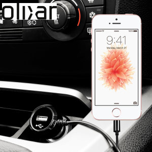 Keep your Apple iPhone SE fully charged on the road with this high power 2.4A Car Charger, featuring extendable spiral cord design. As an added bonus, you can charge an additional USB device from the built-in USB port!