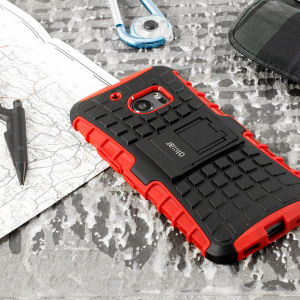 Protect your HTC 10 from bumps and scrapes with this red Olixar ArmourDillo case. Comprised of an inner TPU case and an outer impact-resistant exoskeleton, the ArmourDillo provides robust protection and supreme styling.