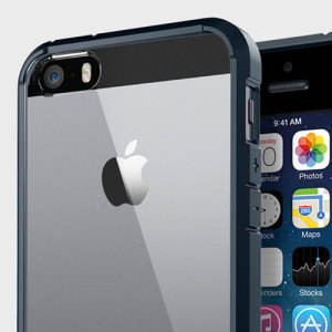 Protect your iPhone SE with this unique metal slate bumper with air cushioned corners from Spigen SGP.