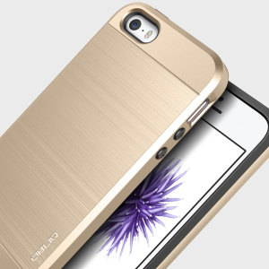 Protect your iPhone SE with this ultra slim case in gold, which protects as well as providing a stunning full body protection in an attractive dual design.