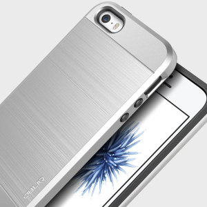 Protect your iPhone SE with this ultra slim case in silver, which protects as well as providing a stunning full body protection in an attractive dual design.
