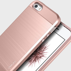 Coque iPhone SE Obliq Slim Meta – Rose Or