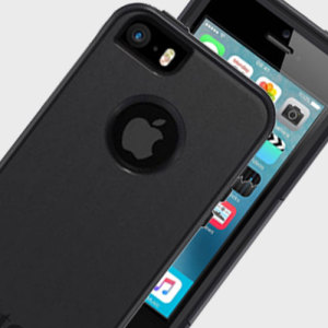 Featuring two layers of shock absorbing protection and a self-adhering screen protector. The Commuter Series in Black for iPhone SE provides excellent protection without added bulk.