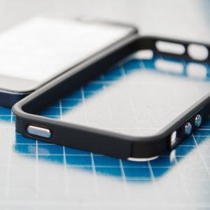 Design Bumper Protège les coins des chocs et rayures Recouvre les touches Conçu spécialement pour l'iPhone SE Compatible protections d'écran