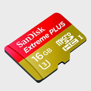 Reduce your transfer times with this fast Micro SD Extreme Plus card from SanDisk. With 16GB of storage and UHS Speed Class 3 (U3) rating, this Micro SDHC card is perfect for 4K video capture as well as photo and file storage.