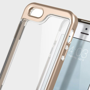 Protect your iPhone SE with this precision made gold and clear case from Caseology. Made with a robust minimalist ethic, this see-through case offers protection for your phone while still maintaining its natural charms.